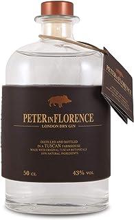 Peter in Florence - London Dry Gin, Gin Classico dai Profumi Floreali: Iris e Ginepro, Distillato a Firenze - 500 ml