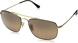 RAY-BAN RB3560 The Colonel Square Sunglasses, Tortoise/Brown Gradient, 61 mm
