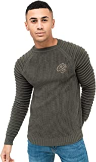 Crosshatch Mens Netherbie Raglan Textured Jumper
