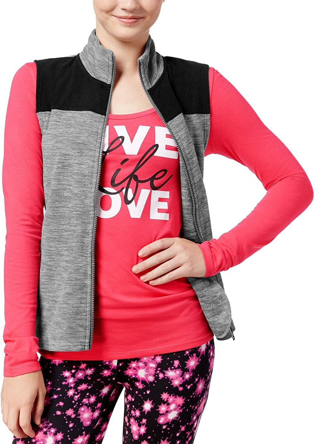 Energie Womens Fleece Vest & Graphic TShirt