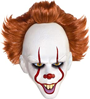 Suit Yourself It Pennywise The Dancing Clown Mask, One Size, Latex, Features a Creepy Clown Face and Red Hair