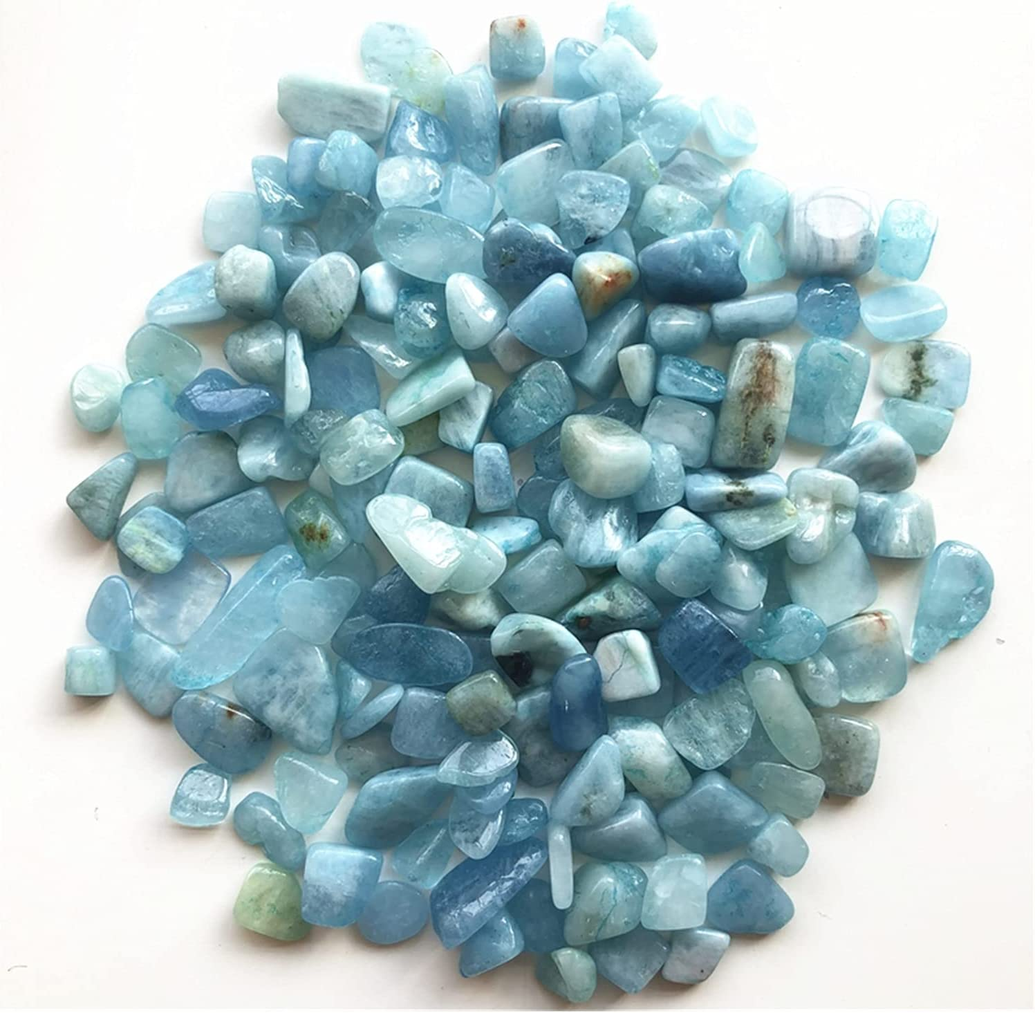 AILIDON Gravel 50g 8-12mm Natural Aquamarine Cryst Quartz Super sale period limited Sales of SALE items from new works