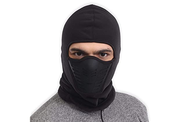 5b91e63fb35 Balaclava Fleece Hood   Ski Mask with Air Mask - Heavyweight Extreme Cold  Weather Face Mask - Motorcycle