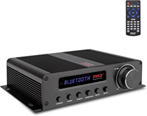 Wireless Bluetooth Home Audio Amplifier - 100W 5 Channel Home Theater Power Stereo Receiver, Surround Sound w/ HDMI, AUX, FM Antenna, Subwoofer Speaker Input, 12V Adapter - Pyle PFA540BT