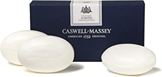 Caswell-Massey Long Lasting Triple Milled Almond Bar Soap Oz White Centuries Almond with..