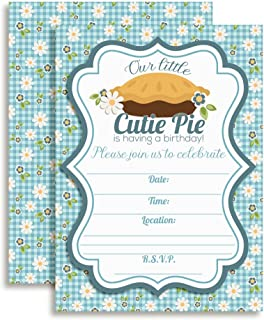 Our Little Cutie Pie Baking Birthday Party Invitations, 20 5