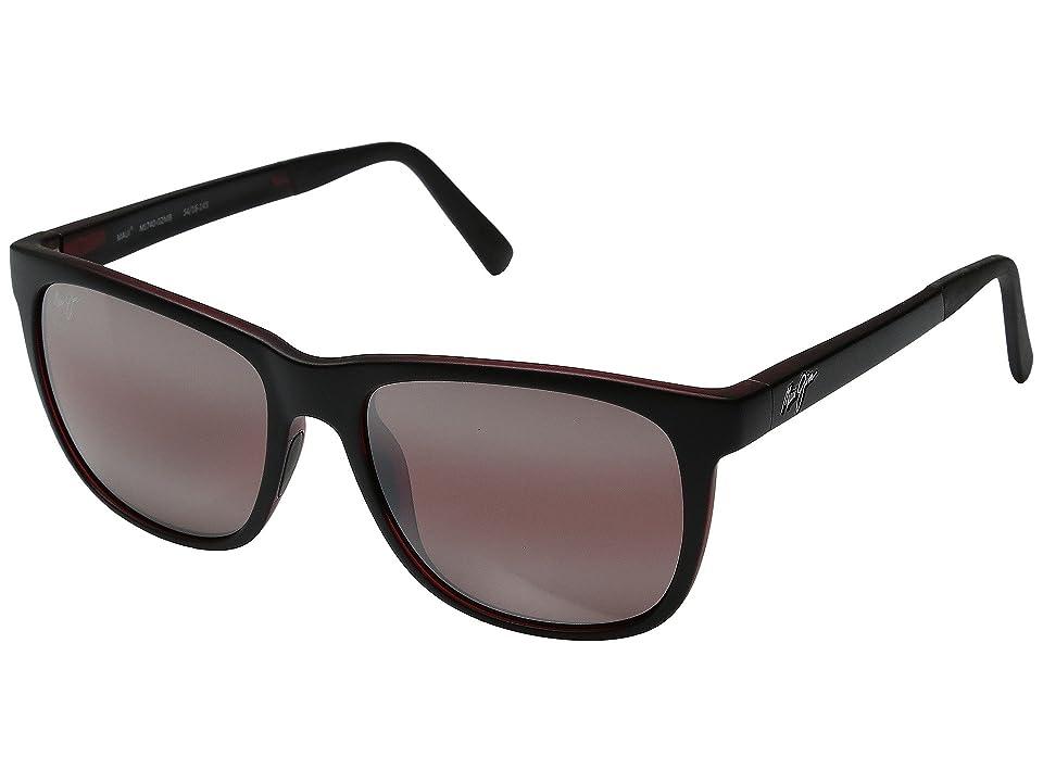 Maui Jim Tail Slide (Matte Black/Red) Fashion Sunglasses