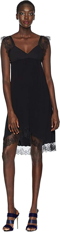 Crepe de Chine/Lace Dress