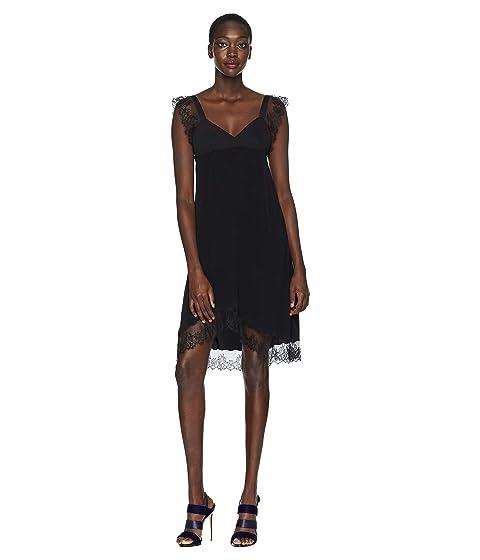 Neil Barrett Crepe de Chine/Lace Dress