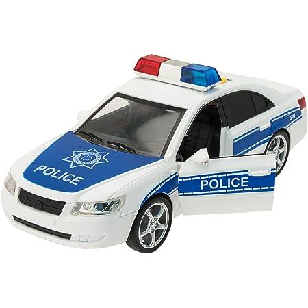 Macchina Della Polizia Con Luci E Suoni In Scala 1 16 Amazon It Giochi E Giocattoli