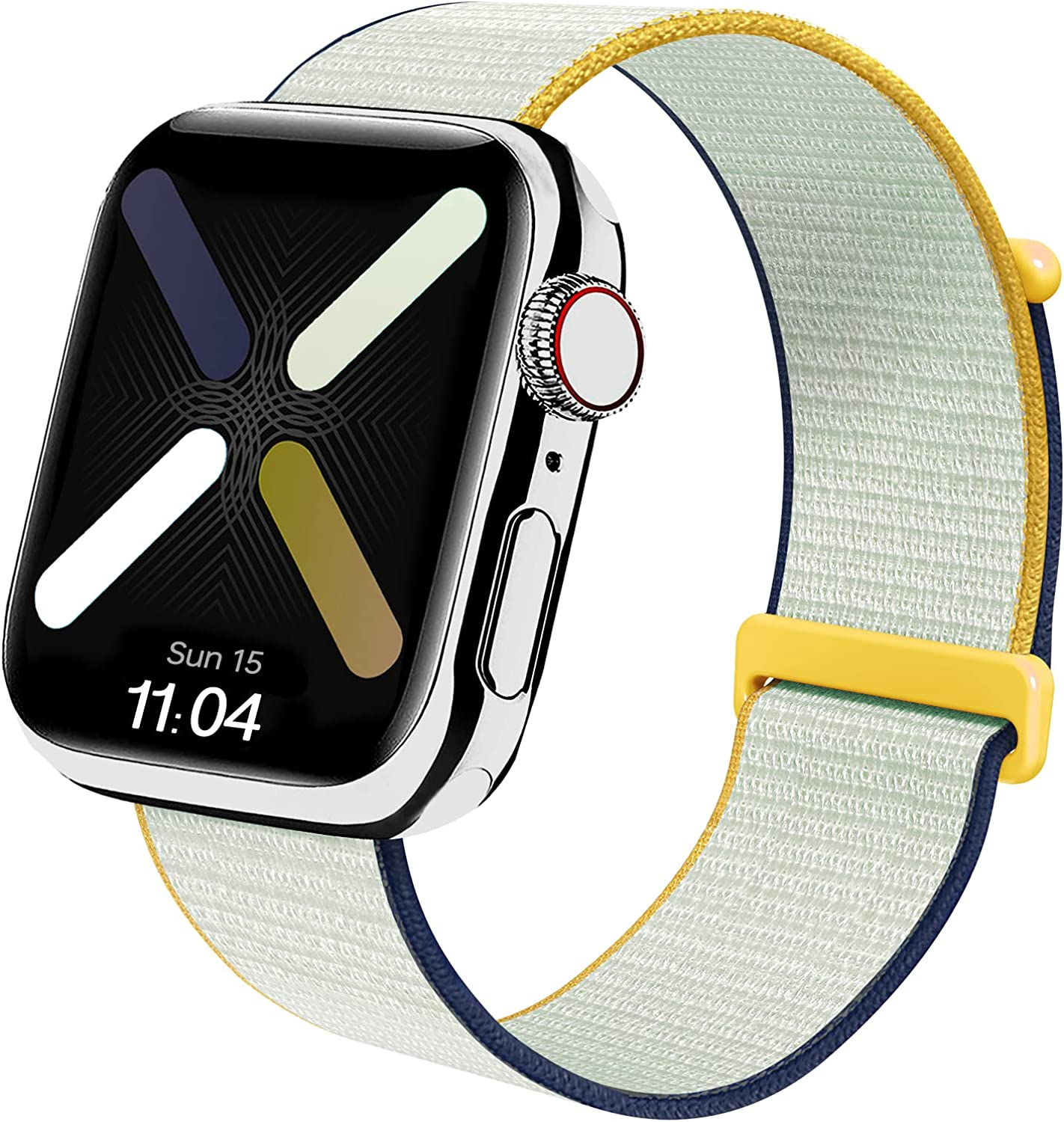 Nylon Band Compatible with Apple Watch Bands 38mm 40mm 42mm 44m, Soft Braided Stretchy Woven Solo Loop for Women Men Replacement Sport Bands Compatible with iWatch Series SE/6/5/4/3/2/1