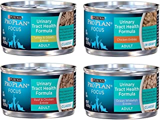 Purina Pro Plan Focus Wet Cat Food Urinary Tract Health (UTH) Variety Pack, 4 Flavors, 3-Ounce Cans (12 Total Cans)