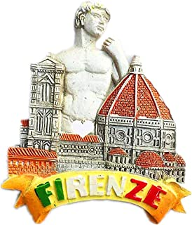 Italy Magnet Souvenirs Notre Dame Cathedral Giotto Campanile David Florence 3D refrigerator Fridge magnets Souvenir Sticker kitchen Resin