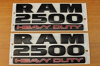 Mopar Set of Dodge RAM 2500 Heavy Duty Flat Matte Black Door Emblems OEM by
