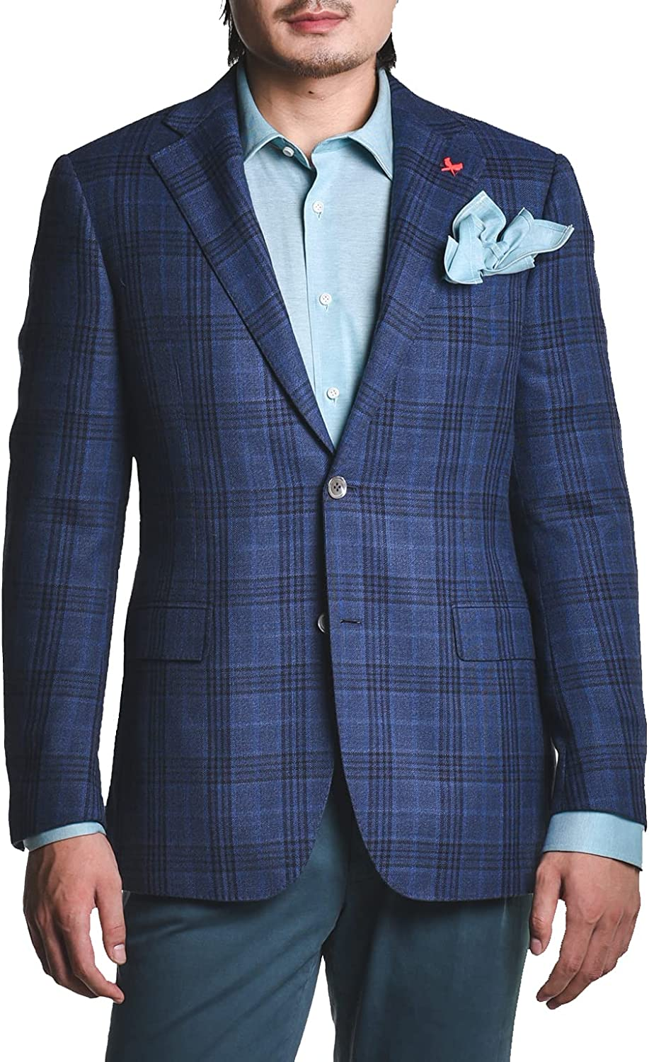 CARDINAL OF CANADA Men's Blazer, Modern Fit Wool Plaid Sports Coat - Business Casual and Formal Suit Jacket