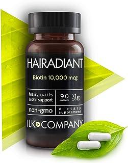 Hair Vitamins - Biotin 10,000 MCG - Non-GMO Hair Growth Essential Treatment for Men & Women - Longer & Healthier Hair and Nails - Radiant Skin - 90 Capsules