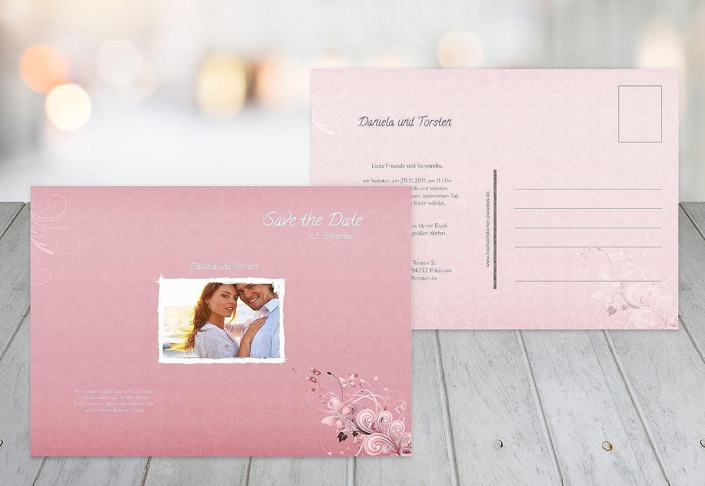 Kartenparadies Hochzeitskarte Save-the-Date Liebeswunder, hochwertige Save the Date Karte zur Hochzeit   30 Karten - (Format  148x105 mm) Farbe  HellRosa B01NBWRO0S | Verschiedene Stile und Stile