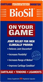 BioSil by Natural Factors, On Your Game, Joint Support for Men, Collagen Generator, 30 Vegetarian Capsules (30 servings)