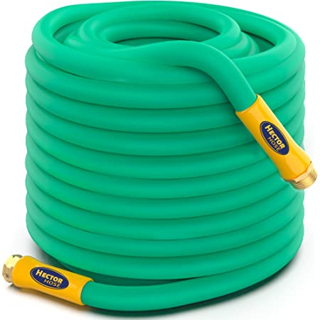 TBI Pro Garden Water Hose Lightweight Drinking Water Safe with Solid Brass Fittings - Burst Strenght 500 psi Leak-Free 3 Layers Lead and BPA Free - Flexible All-Weather 5/8 in (50ft)