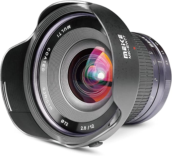 Meike Optics MK - Objetivo Ultra Gran Angular para Montura Sony E-Mount (12 mm f2.8)