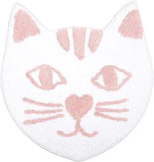 Blue Panda Cat Face Bath Rug Floor Mat, 23 x 22 Inches