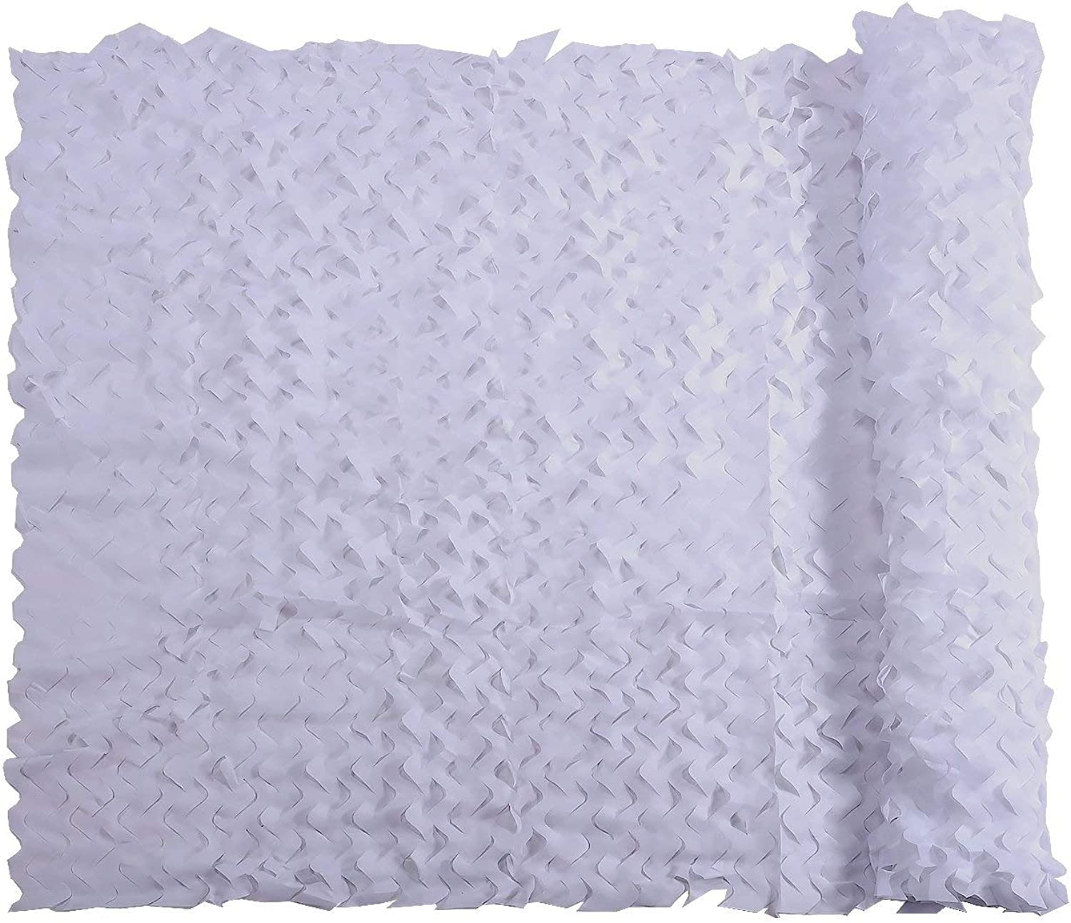 Camouflage Netting Military Nets Lightweight Durable Sunshade Decoration Hunting Blind Shooting Camo Net (color   White, Size   6X8M)