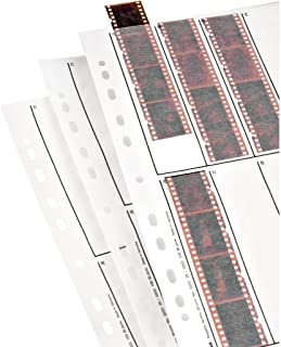 Hama 2252 Negative File Storage Sleeves, Each Holding 10 Strips of 4 (24 x 36 mm) Frames, Glassine (Pack of 25)