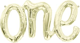 American Balloon Company one Balloon Banner - Light Gold 30 Inches Long