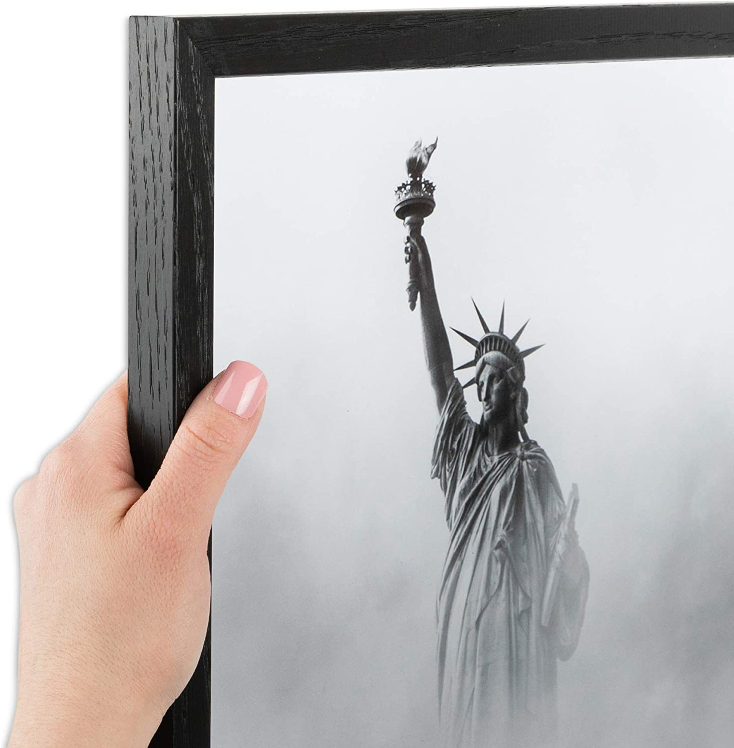 Denver Mall ArtToFrames 12x24 Inch specialty shop Black Picture Frame Woo .75