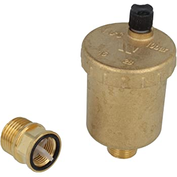 OEG-Sanitaer Automatischer Schnellentl/üfter 1//2 Zoll DN15 Messing Systementl/üfter Entl/üftungsventil senkrecht Heizung