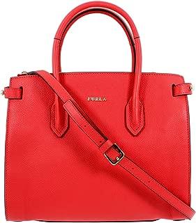 Pin Ladies Medium Red Kiss Leather Tote Bag 1014050