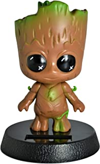 Cute Solar Powered Groot Bobblehead Car Accessories Dashboard Home Office Ultra Detail Collectible Relaxing Toy . (Solar Groot)