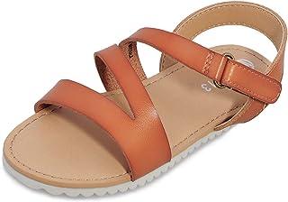 Sponsored Ad - shoeslocker Girls Flat Sandals Summer Shoes Open Toe Strap Sandals for Little Kids Big Kids