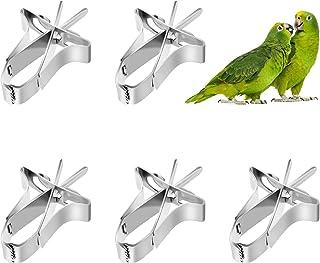 5 Piezas Comedero de Pájaros, Comedero para Loros Clips para Accesorios de Jaula de Pájaros, Loros Fruta Vegetales para Pe...