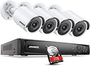 ANNKE H800 4K PoE Security Camera System,8CH PoE NVR and 4pcs Ultra HD 8MP Outdoor Wired IP Cameras 2TB HDD, Dual Night Vi...