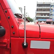 13-inch Antenna for Jeep Wrangler TJ 1997-2006 Upgrade Antenna Replacement - AM FM Metal Aluminium Heavy Duty -Chrome