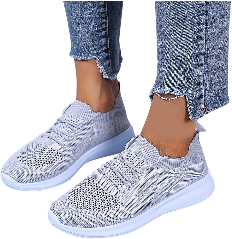Niceast Women's Sneakers Mesh Lace Up Walking Shoes for Women Casual Outdoor Sock Sneakers Comfort Breatheable Sneakers