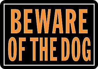 "Hy-Ko Products 838 Beware of Dog Aluminum Sign 9.25"" x 14""  Orange/Black, 1 Piece"