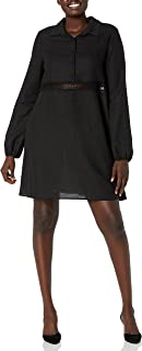 Calvin Klein Women's Missy Color Block fit and Flare Dress