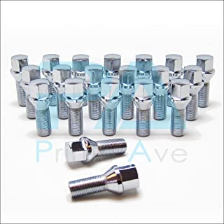 Prime Ave PA (20) Cone Seat Wheel Lug Bolts in Chrome ~ Thread Size 14X1.5 | 27mm Shank | 17mm Hex