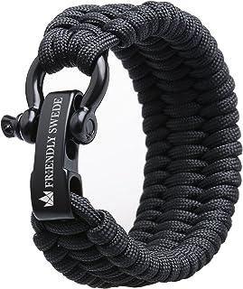 The Friendly Swede Bracelet de survie en paracorde avec Microcord r/églable pour homme et femme