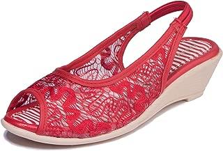 Khadims Girls Red Casual Mule Sandal