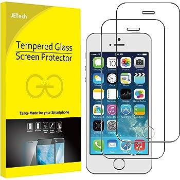 JETech Schutzfolie für iPhone SE (Ausgabe 2016), iPhone 5s, iPhone 5 und iPhone 5c, Gehärtetem Glas Displayschutzfolie, 2 Stück