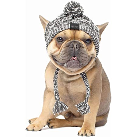 leconpet Dog Aviator Hat Dog Winter Pilot Hat with Ear Flaps for Cold Weather