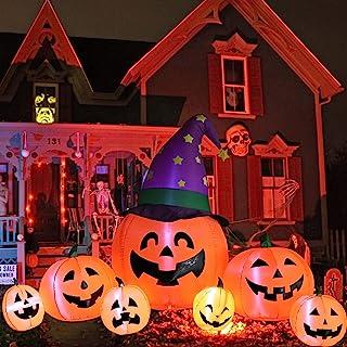 Kalolary 7.9FT Halloween Opblaasbare Decoraties, Opblazen Pompoen Decoratie voor Yard Pompoen Inflatables Outdoor Decorati...