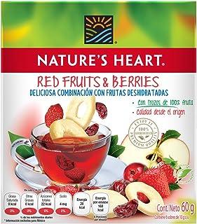 Nature's Heart Té con Frutas Deshidratadas, Frutos Rojos, 10 g x 6 sobres