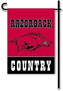 NCAA Arkansas Razorbacks 2-Sided Country Garden Flag, One Size, Team Color