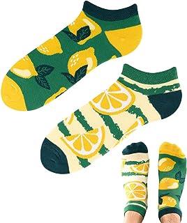 TODO Colours - Calcetines deportivos con diseño de limones y limonada bajos, divertidos calcetines para hombre y mujer, mu...