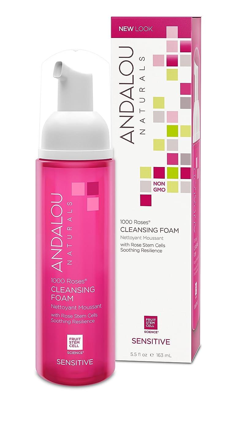 便益おもしろい発行するオーガニック ボタニカル 洗顔料 洗顔フォーム ナチュラル フルーツ幹細胞 「 1000 Roses? クレンジングフォーム 」 ANDALOU naturals アンダルー ナチュラルズ