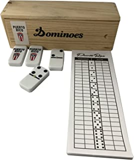Puerto Rico Double Six Dominoes Conga Regular Size with Score Pad